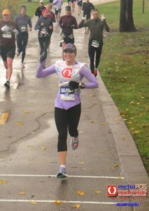 First marathon in the pouring down rain. But scored my first BQ!