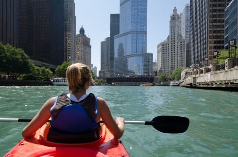 This was an incredible experience. Kayaking down the Chicago River.