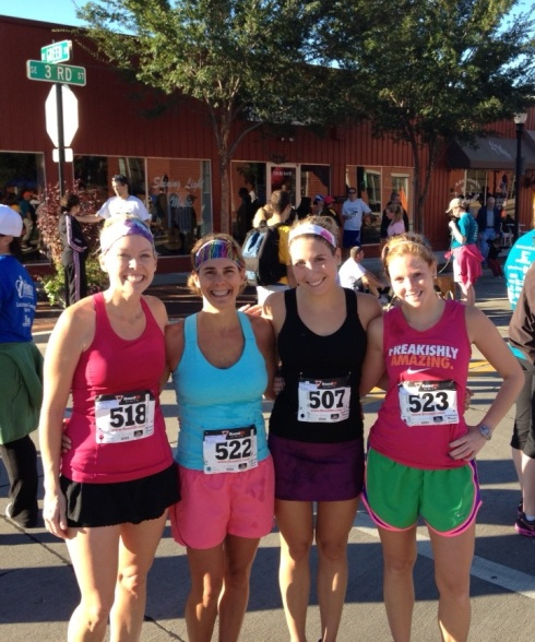 The 1st place - 4th place female finishers. My friends are so fast!