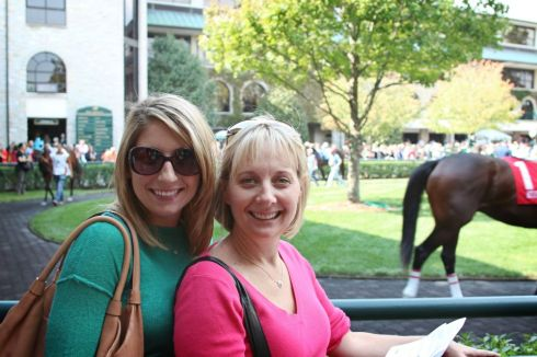 Mom and I at Keeneland in Kentucky.