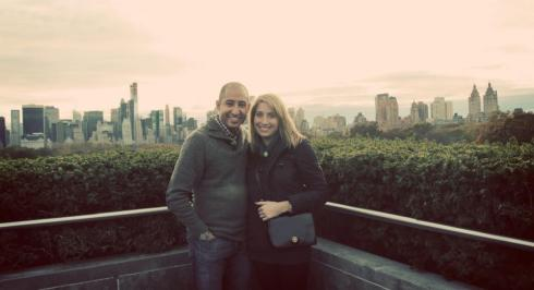 On the top of the Met with my number one guy.
