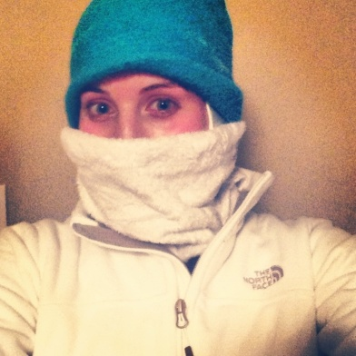Preparing for a long, cold run!