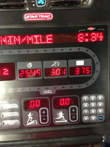 3 miles on the mill.