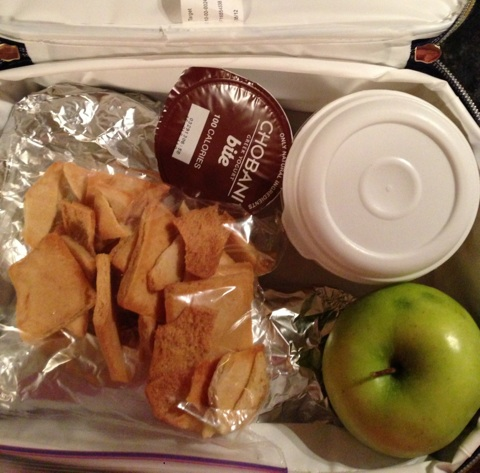 Pack lunch and dinner, since I will not be home until after 9pm.