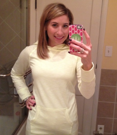 Cozy outfit Monday. Love my new hoodie from Target!!
