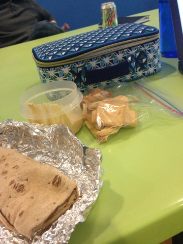 1:30pm - Finally eat lunch in one of my meetings.