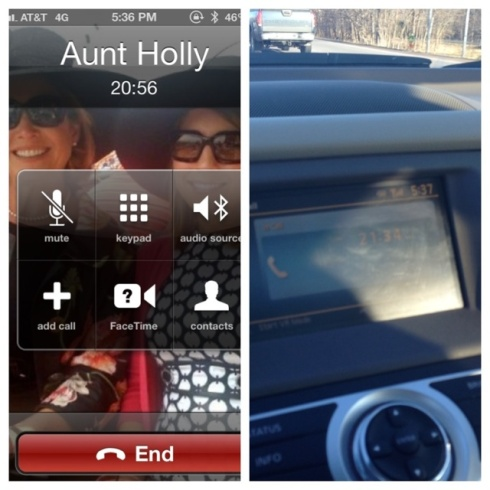 5:00-5:58pm - Drive to GOTR through terrible traffic, and chat with my Aunt. I love my bluetooth.