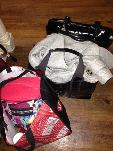 9:30pm - Go home, pack up my things for tomorrow morning. When my running group runs in the AM, I get ready for work at Stacy's house to save time. I am like a nomad.