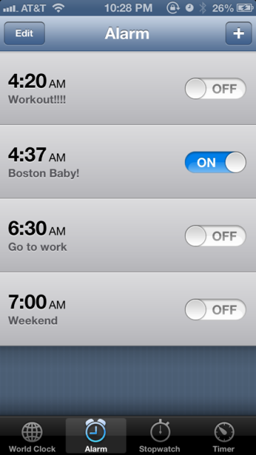 10:30 pm - Set the alarm and prepare for another day of fun.
