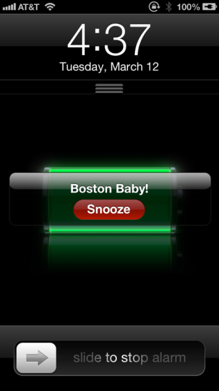 YAWN!!!!! I actually fell back asleep after this alarm and woke up at 4:59. In order to on on time to running, I have to leave at 4:59...I was late.