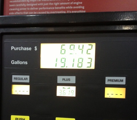 Fill up my car with gas. Ouch.