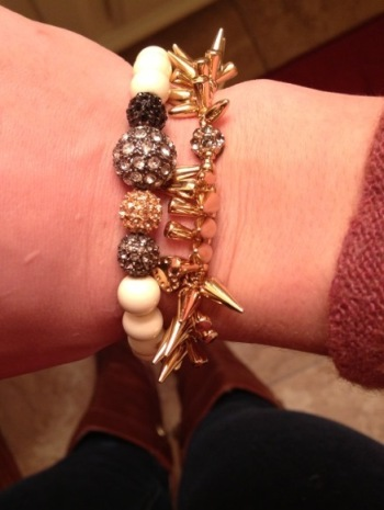 New spikey bracelet from Stella and Dot. Love it!