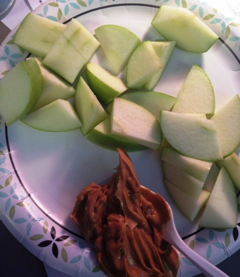 3:50pm: Apple with PB.