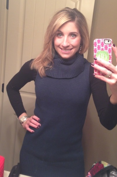7:25am - Ready for work. Trying to wear my winter clothes before spring hits!