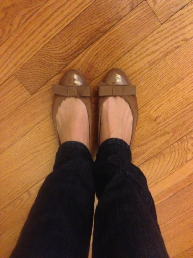 I love these TB flats. So girly and fun.