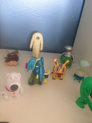 3:30pm - Meeting in the Creative offices. Admire their little character set.