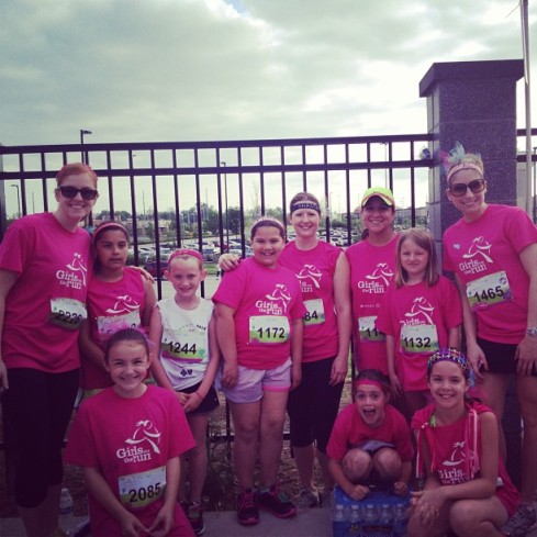 Celebrated my Girls on the Run group running their 5k!