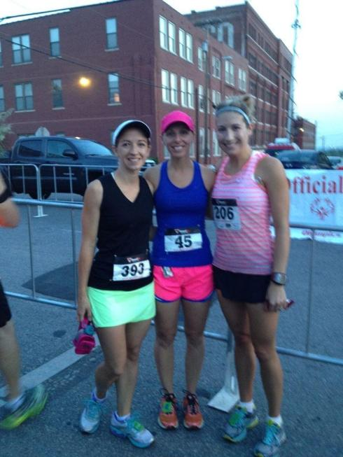 Pre-race photo with Sally and Amanda!