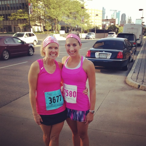 Race for the Cure with Stacy! Ran a 22:07.