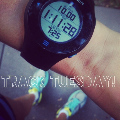 A KILLER track workout. 8 800's, one at 3:10, the rest under. Shocked that my overall pace for this run was 7:05!