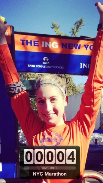 At the 2012 NYCM finish line.