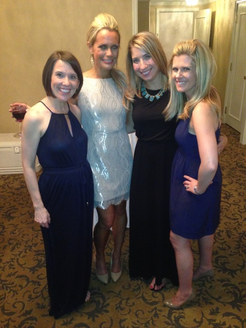 With some of girls and the lovely bride!