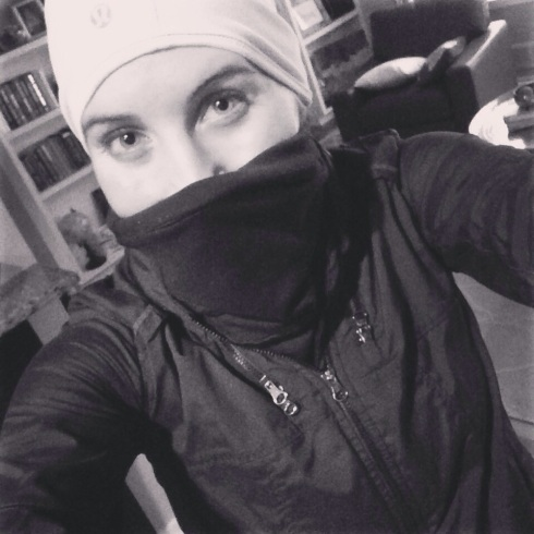 Post run burglar selfie.