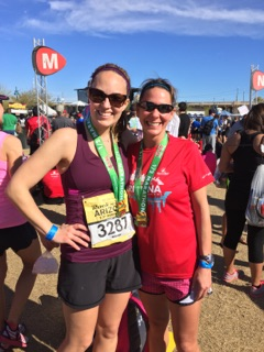 Nicole and Di ran together almost the entire race!